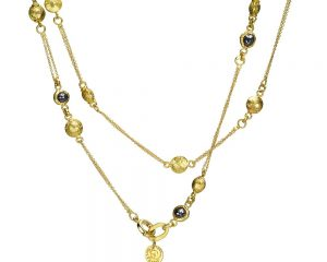 Encapsulating Gold Necklace and Pendant for Women!